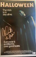 Nick Castle Signed 11x17 Photo Beckett COA. Halloween The Shape Michael Myers D6