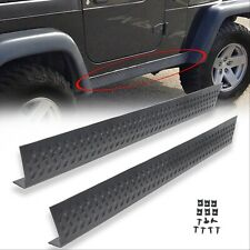 Pair New Side Body Armor Rocker Panel Kit For Jeep 1997-2006 Tj Wrangler (Fits: Jeep)