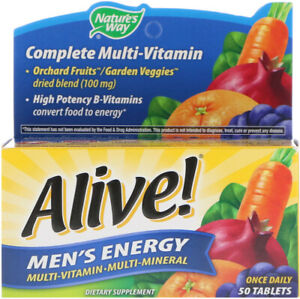 Men's Energy Multivitamin with Zinc & Lycopene 50 Tablets Prostate Support