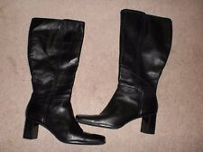 Nine West black leather boots Fleetown  9