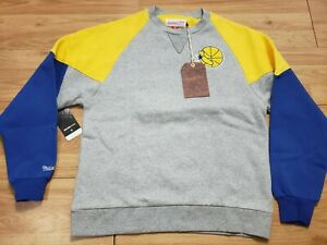 NWT Golden State Warriors Mitchell & Ness Hardwood Classics Sweater Size Small