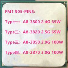 AMD Quad-core X4 A8-3800 A8-3820 A8-3850 A8-3870 Socket FM1 905PIN CPU