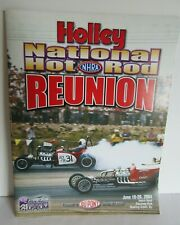 2004 NHRA Holley Hot Rod Reunion Program Beech Bend Raceway Bowling Grn Kentucky