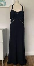 DUSK FRANK USHER Dress SIZE 16 Black SMART Occasion WEDDING Cruise RACES Formal