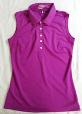 Nike Golf Tour Performance Dri-Fit Women's Magenta Sleeveless Polo Shirt Size S