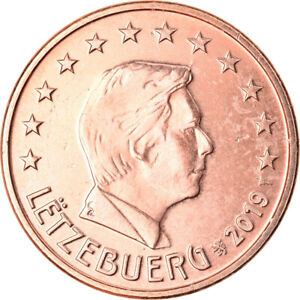 [#792139] Luxembourg, 5 Euro Cent, 2019, SPL, Copper Plated Steel, KM:New