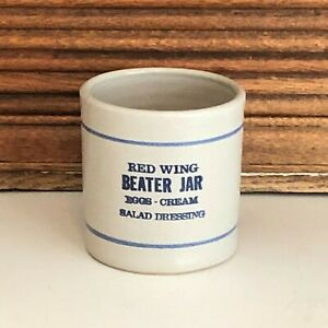 Stoneware RED WING BEATER JAR - Eggs-Cream-Salad Dressing