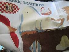 Susan Winget Collection Hen Pillow/Doorstop Fabric Panel 15.75x16.5 Inches