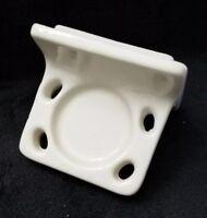 Vintage Ceramic Porcelain Off White  Bathroom Wall Toothbrush/ Cup Holder