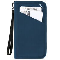 Slim Travel Passport Wallet Phone Holder RFID Blocking ID Card Case Cover US