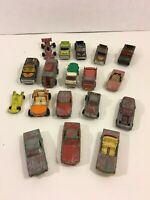 Vintage Die-Cast Cars Trucks For Parts Restoration Mixed Brands Majorette Corgi