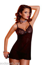 Ladies Womens Sexy Lingerie Short Lace Slip Chemise Baby Doll Night Dress Gown