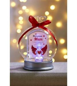 ANGEL WISHES IN GLASS DISPLAY JAR  MARVELLOUS MUM  POEM LIGHTS UP COLOUR CHANGE