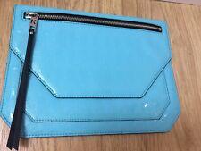 KARL LAGERFELD Sky Blue Oversized Clutch Bag purse BNWT