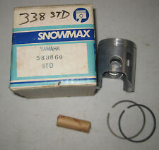 YAMAHA 338 STANDARD PISTON WITH RINGS NEW OLD STOCK ITEM IN BOX SNOWMAX