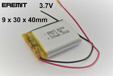 EREMIT Lithium Polymer LiPo Batterie Akku 1000mAh 3.7 V 1S Powerbank PCB N13