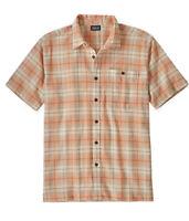 NWT Patagonia Men's S/S A/C Plaid Organic Cotton Shirt Size XS Style # 52921