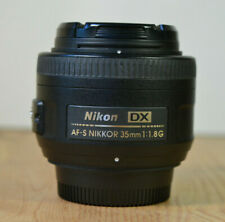 NIKON DX NIKKOR AF-S 35MM 1:1.8G PRIME LENS WITH FRONT & REAR CAPS & BAG