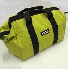 "New Ryobi 18"" x 12"" x 12"" Contractors Heavy Duty Green Tool Bag"
