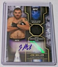 2017 Topps UFC Knockout Autograph Jersey Relic Jim Miller /149