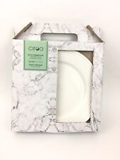 "Ciroa Set Of 4 White Dinner Plates 10.5"" Porcelain Microwave Dishwasher Safe New"