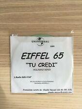 Eiffel 65 - Tu Credi (Molinaro remix) - CD Single PROMO - Gabry Ponte - RARO!!!