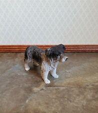 Dollhouse Miniature Puppy Dog Australian Shepherd 1:12 Scale Pet Black & White