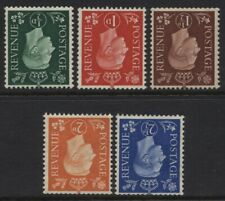 1937 ½d-2½d DARK COLOURS INVERTED WMK M/MINT SET. SG 462Wi-6Wi
