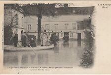 Petit-Andely - Hotel de la Chaine-d'Or, garden, flood - post card 1910