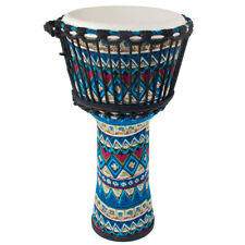 More details for aklot djembe african drum 10 inch blue goat skin drum head percussion instrument