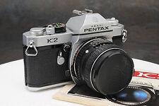 - Pentax K2 35mm Camera w/ SMC 55mm f1.8 Lens