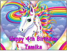 """Unicorn Horse Personalised Birthday Cake Topper Edible Wafer A4 7.5"""" by 10"""""""