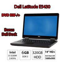 Dell Latitude E5430 Cheap Office Laptop i5 3230M 6GB DDR3 320GB HDD 14 Win10 Pro