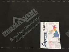 PERMAVENT BLACK - BREATHER MEMBRANE - BREATHABLE ROOFING FELT - 1m x 50m Roll