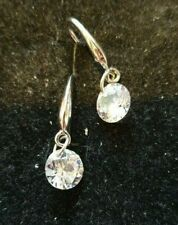 CLEAR RHINESTONES EARRINGS IN SILVER COLOUR SETTING GRADUATION BIRTHDAY AND MORE