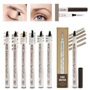 3D Microblading Tattoo Eyebrow Ink Fork Tip Pen Eye Brow Makeup Pen Pencil _US