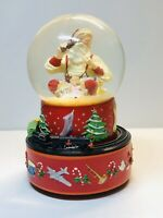 2001 Hallmark Coca-Cola Santa Musical Snow Globe w/ Moving Train With Box
