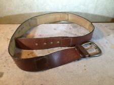 Vintage Canterbury Glazed Aniline Steerhide segmented Leather Belt 38