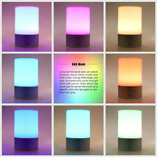 USB Rechargeable LED Light Touch Sensor Cordless Desk Table Bedside Lamp