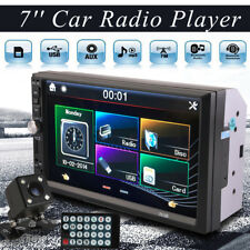 1x 7inch 2 DIN Car MP5 Player Bluetooth Touch Screen Stereo Radio HD+Rear Camera