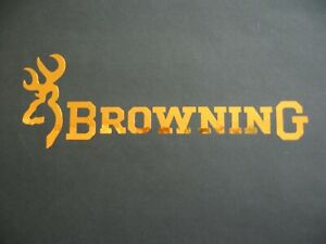 Browning fishing/  sticker/decal (chrome gold)