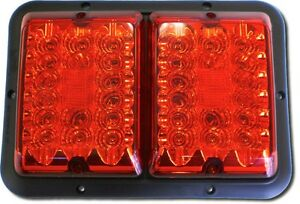 RV Trailer BARGMAN 84 Series Double Tail Light Red Lens Light 50