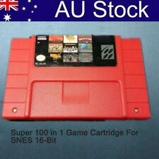 Super 100 in 1 Game Cartridge For SNES 16-Bit Multicart NTSC SNES Super Nintendo