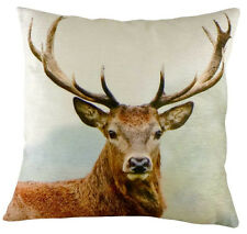 43cm STAG Head Velvet Cushion - Evans Lichfield DP594