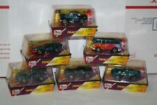 Auto World X-Traction 55 Chevy 65 Samba Bus HO Scale Slot Cars Complete Set Of 6