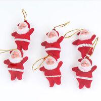 6pcs Santa Claus Felt Father Christmas Xmas Tree Decoration Ornaments Bauble
