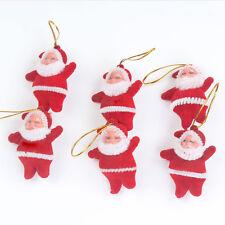 6pcs Santa Claus Felt Father Christmas Xmas Tree Decoration Ornament Bauble