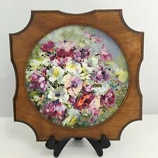 "Royal Doulton ""Hahn Vidal Spring Harmony"" Wooden Framed Collector's China (1975)"