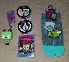 Nickelodeon Invader Zim Lot - Earbuds, Socks, Keychain & More - Brand New!