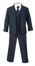 Boys Suits Navy Kids Children Formal Dress Infant Toddler Size S-XL 2T-4T 5-18